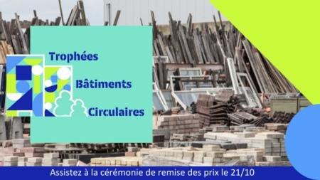 Remise des prix de la 1ère édition des Trophées Bâtiments Circulaires