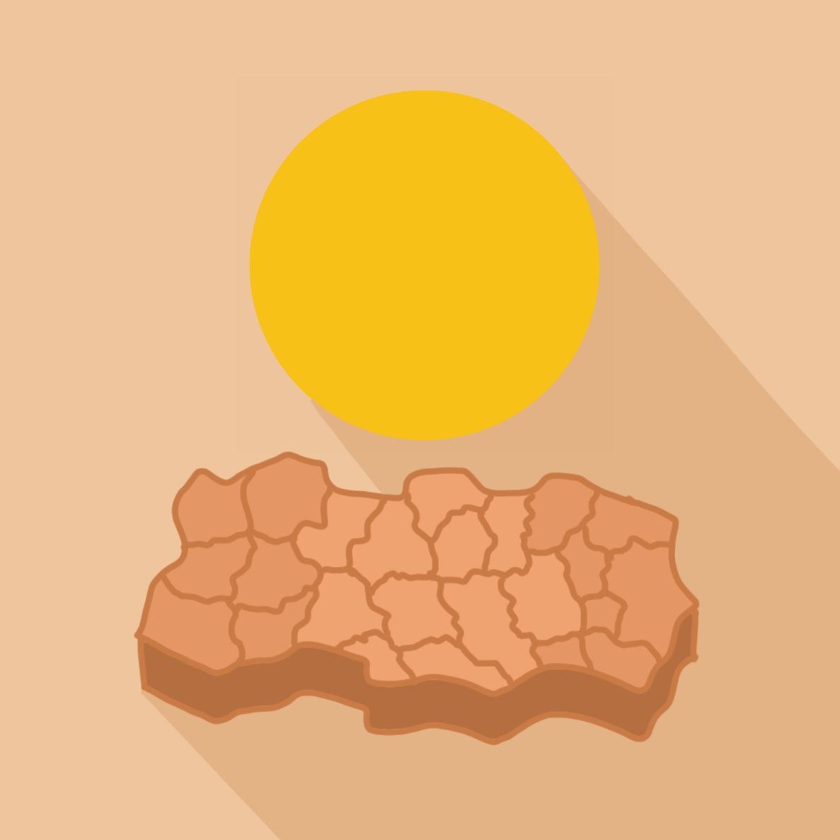 Logo sécheresse