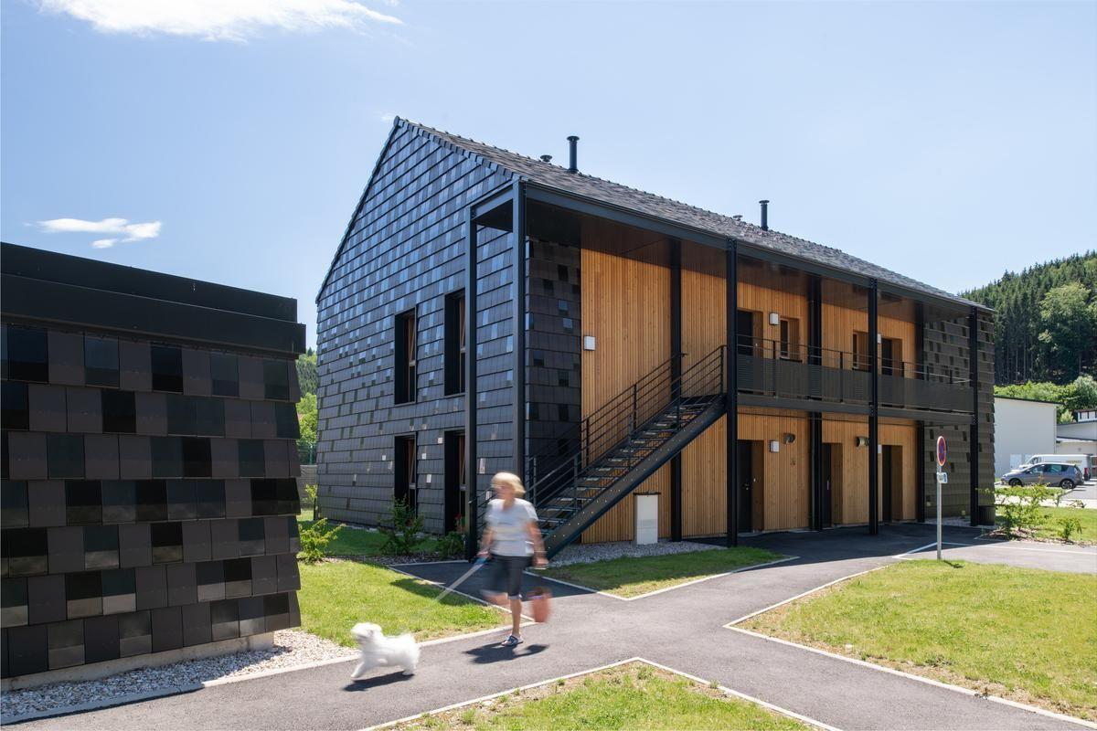 4 logements sociaux passifs en bois-paille