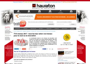 Construction21 les taux de tva pour la construction et la for Tva en renovation