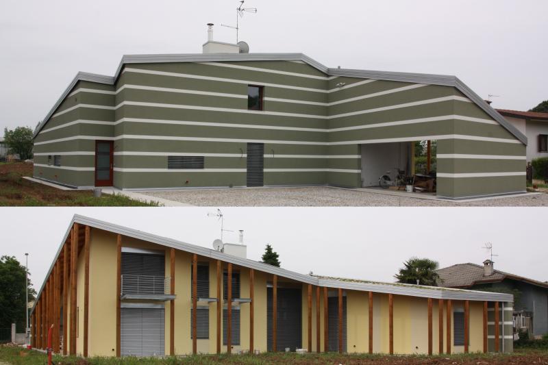 Casa solare bioclimatica regionalista zero energy a for Progetto casa moderna nuova costruzione
