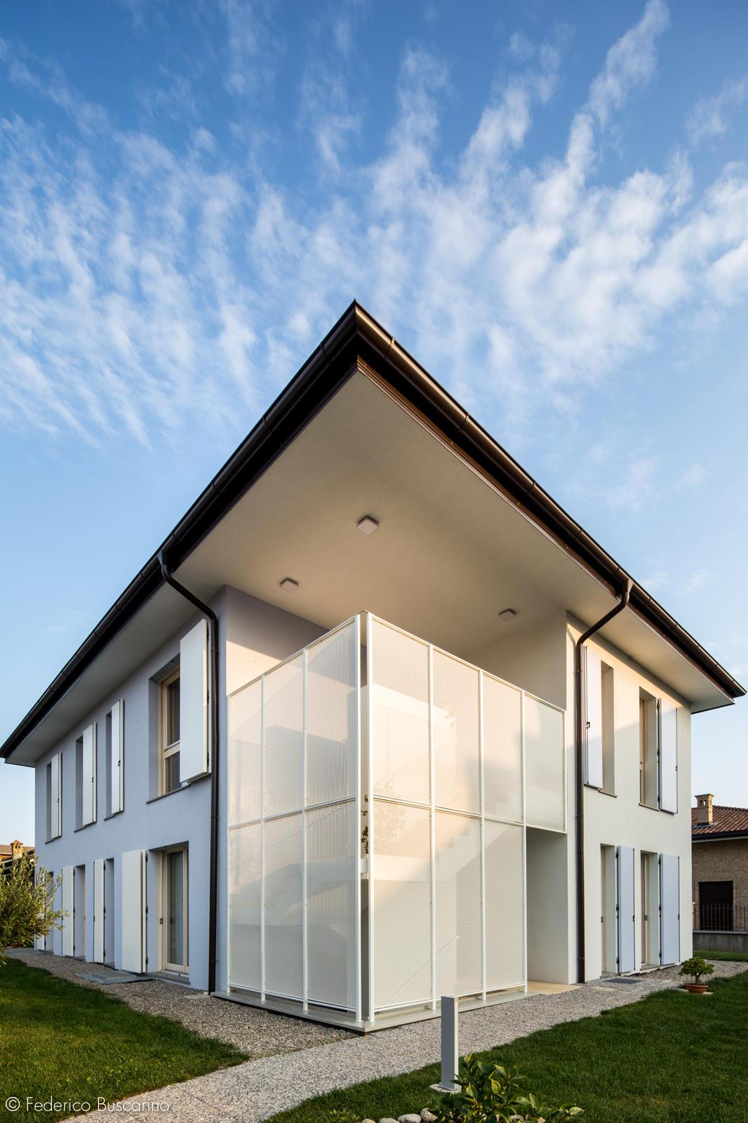 Semi Detached Nearly Zero Energy Building In Wood