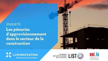 Donnez votre avis sur les pénuries d'approvisionnement dans le secteur de la construction
