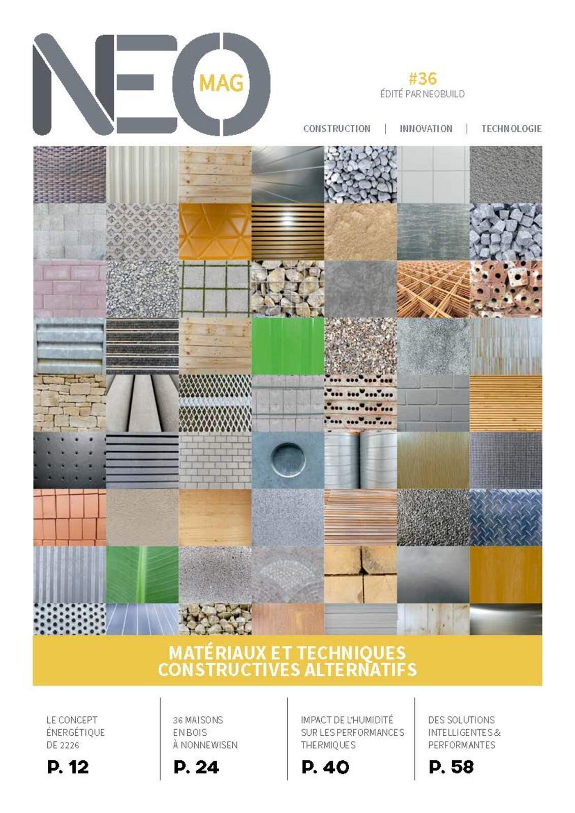 NEOMAG #36 - Techniques et matériaux de construction alternatifs