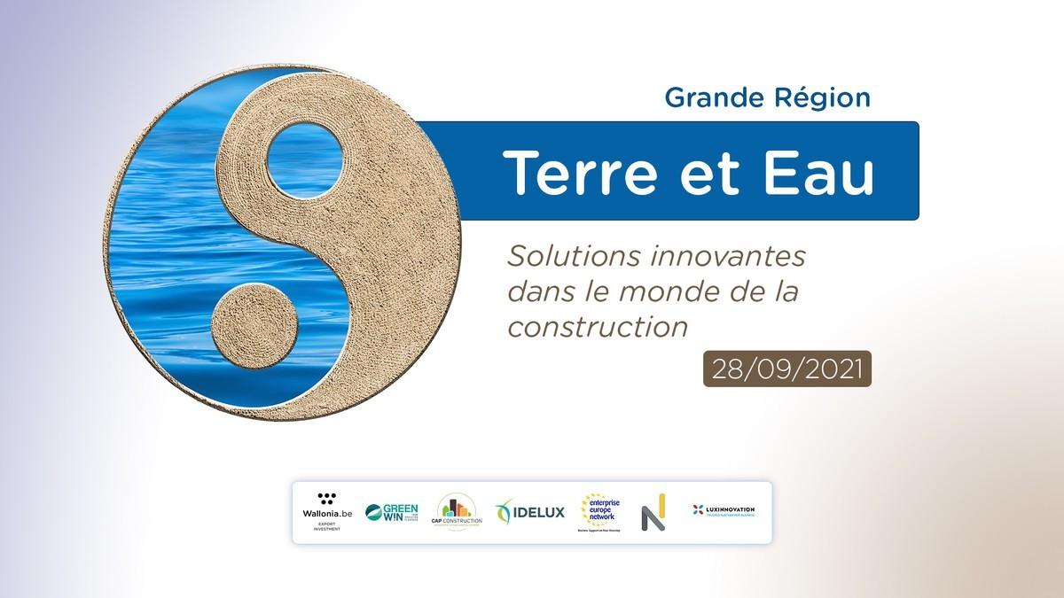 Webinaire Terre & Eau Solutions innovantes dans le monde de la construction Conférences, retours d'expériences et rencontres B2B