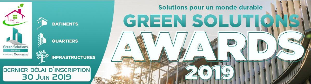 Green Solutions Awards : Dernier délai d'inscription le 30 juin 19