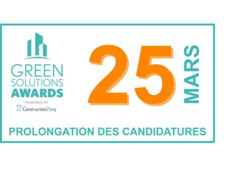 [Nouvelle date] 25 mars : 10 jours de plus pour candidater aux Green Solutions Awards