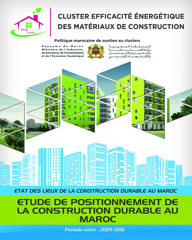 #1 Dossier Climats Chauds : Etude sur le positionnement de la construction durable dans le marché du bâtiment au Maroc (1/6)